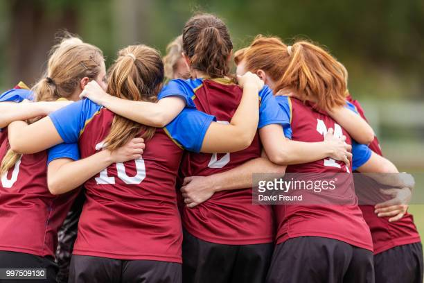 happy winning womens soccer players celebrating - david freund stock pictures, royalty-free photos & images