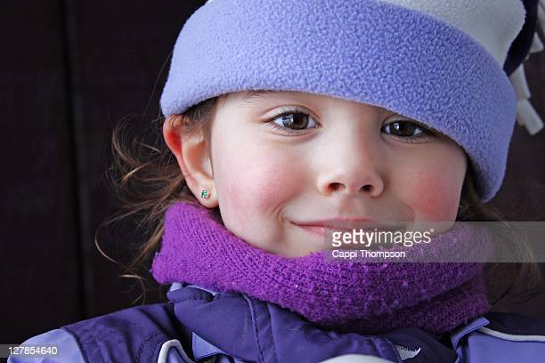 happy winter child portrait - cappi thompson stock pictures, royalty-free photos & images