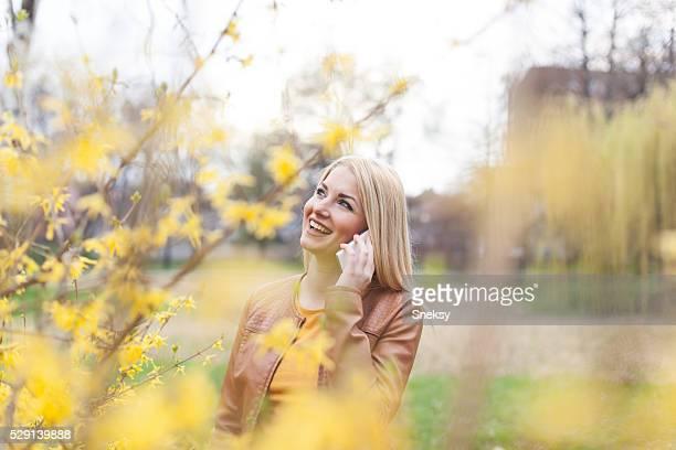 Happy woman at spring