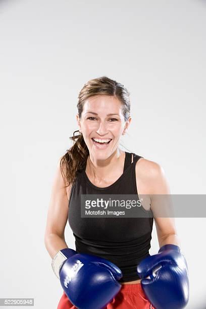 Happy Woman Boxer