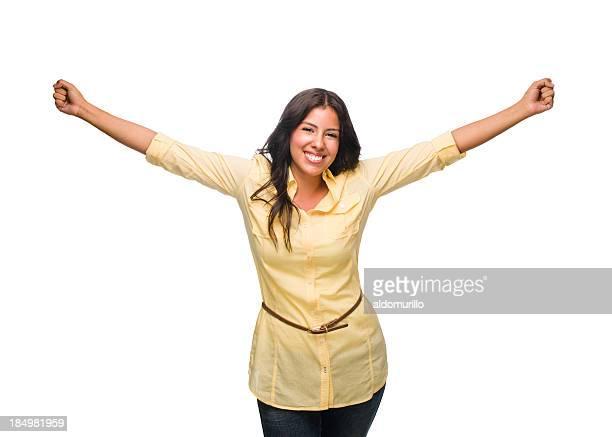 Mulher feliz Celebrando
