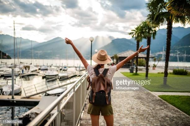 Happy woman enjoying summer.