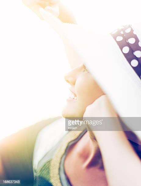 Happy woman enjoying summer