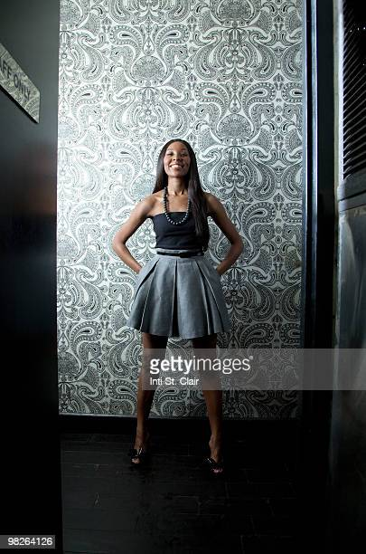 happy woman in fancy clothes in hallway - strapless stock pictures, royalty-free photos & images