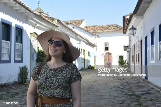 happy woman - leonardo costa farias stock photos and pictures