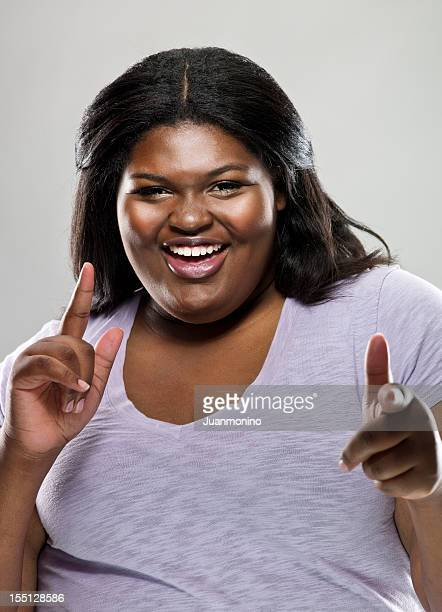 happy woman - images of fat black women stock photos and pictures