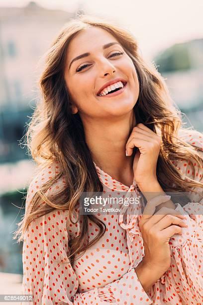 幸せな女性