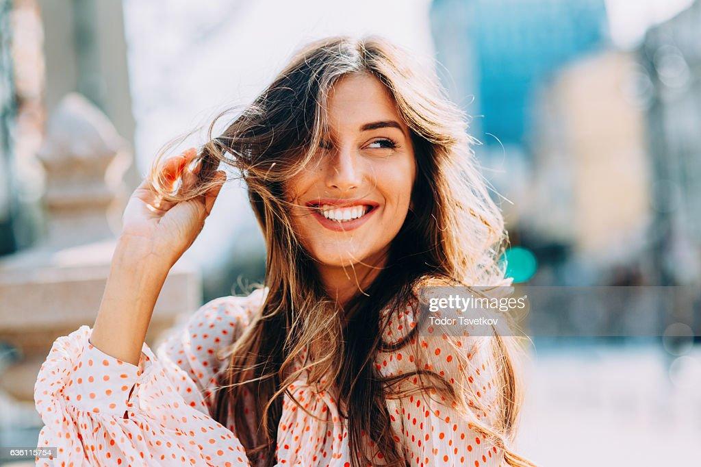 Happy woman : Stock Photo