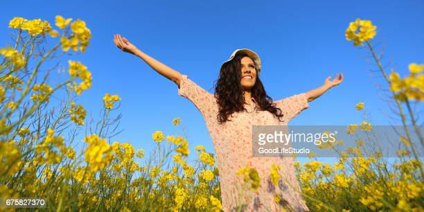 happy woman - spread wings stock pictures, royalty-free photos & images