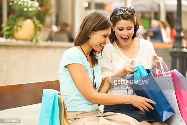Happy women gone shopping