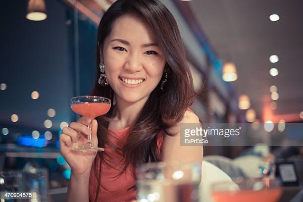Happy women having drinks on cruis
