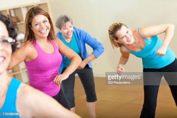 Happy women in Fitness exercise class