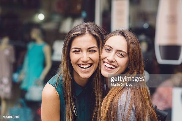 happy women - sister stock pictures, royalty-free photos & images