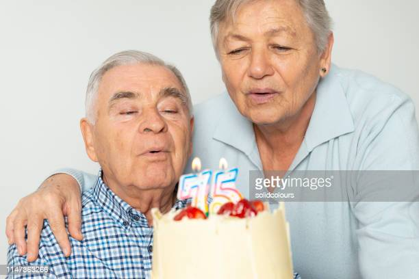 75 happy year - 70 year old man stock pictures, royalty-free photos & images