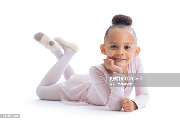 Happy young ballerina