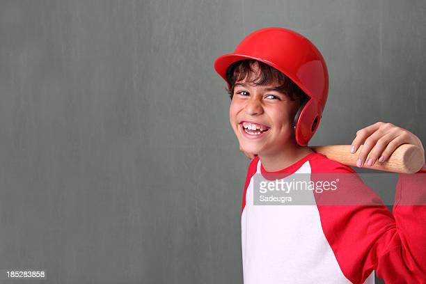 幸せな若い野球選手