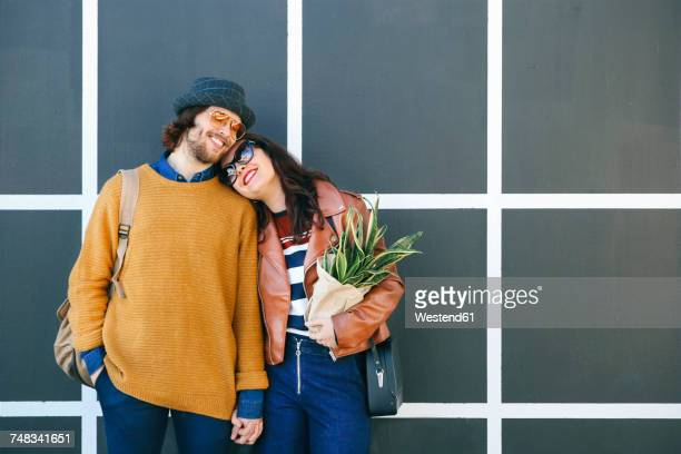 Happy young coung couple in love