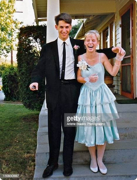 happy young couple - prom dress stock pictures, royalty-free photos & images