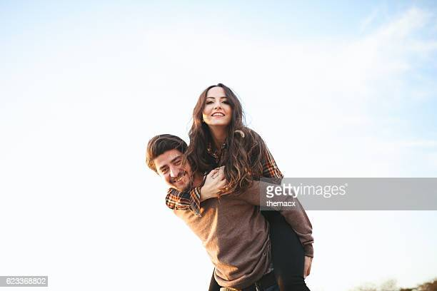 happy young couple - girlfriend stock pictures, royalty-free photos & images