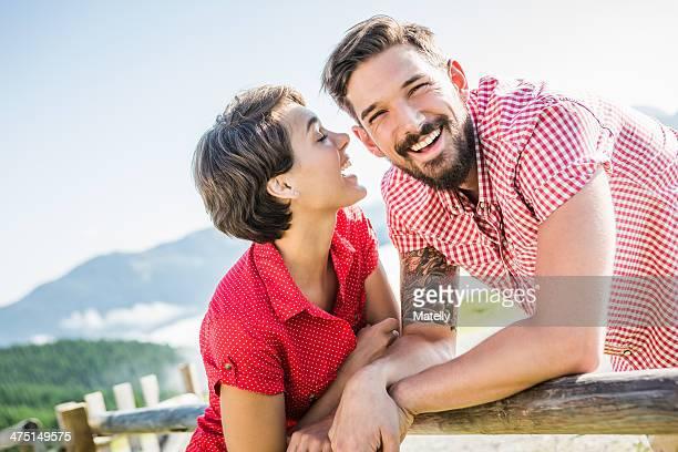Happy young couple, Tyrol, Austria