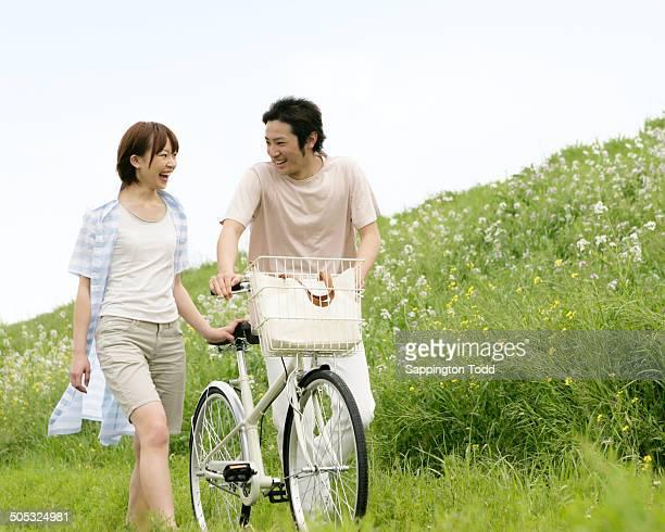 Happy Young Couple Walking