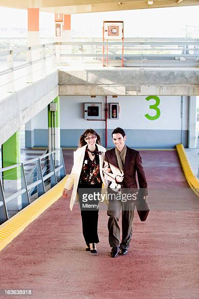 Happy young couple walking together