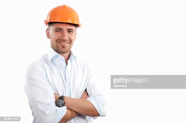 Glückliche junger Ingenieur Porträt