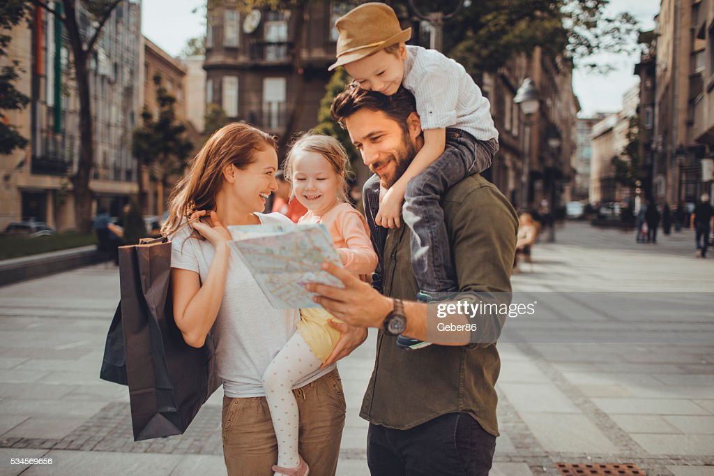 Happy young family : Stock Photo