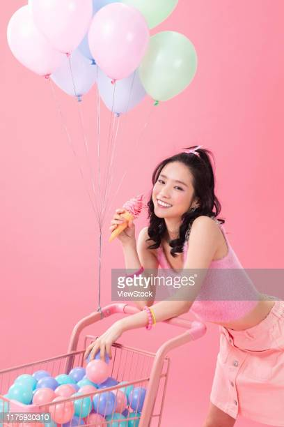 happy young girl - china east asia stock-fotos und bilder