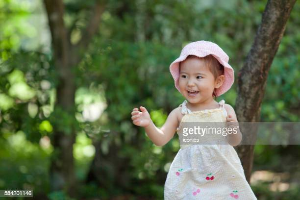 happy young girl - suginami stock photos and pictures