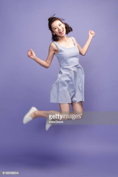 happy young girl - cut out dress stock pictures, royalty-free photos & images