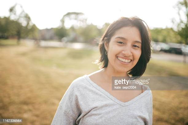 happy young lady - resilience stock photos and pictures