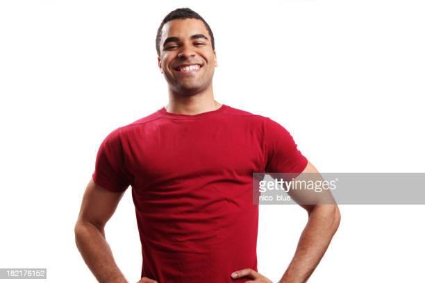 Happy young minority guy