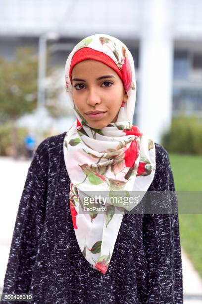 happy young muslim women - moroccan culture stock photos and pictures