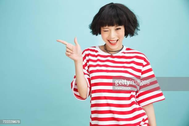 happy young woman - femme coquine photos et images de collection