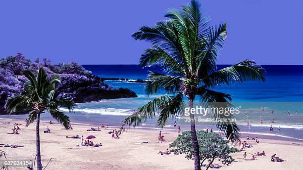 hapuna beach - hapuna beach stock photos and pictures
