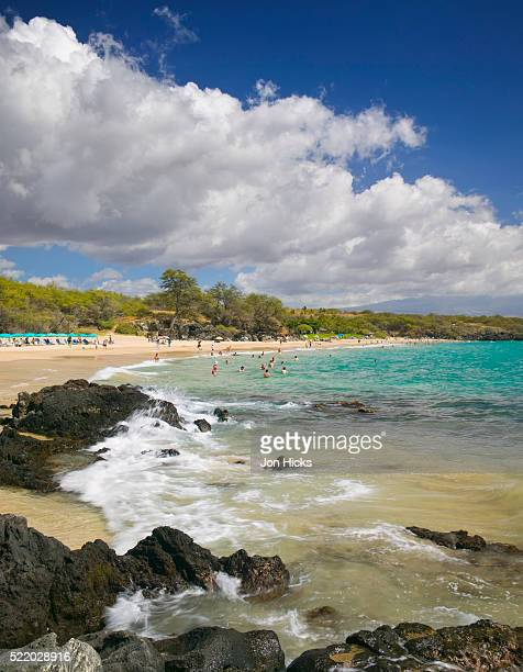 hapuna beach state park - hapuna beach stock photos and pictures