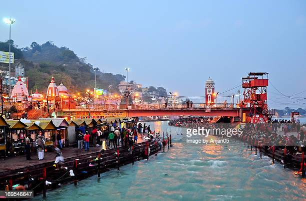 har ki pauri - haridwar - india - haridwar stock pictures, royalty-free photos & images