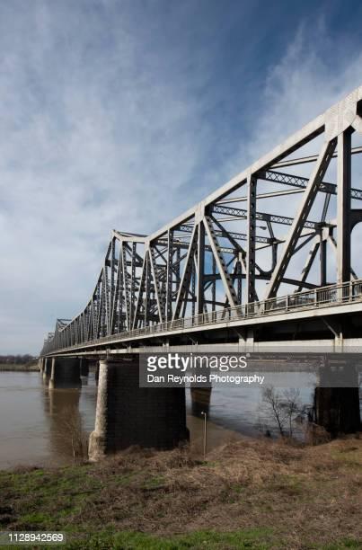 harahan bridge,memphis, tn, usa - memphis bridge stock photos and pictures