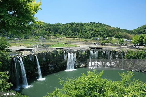 harajiri waterfall, bungo-ohno, oita, japan - 大分県 ストックフォトと画像