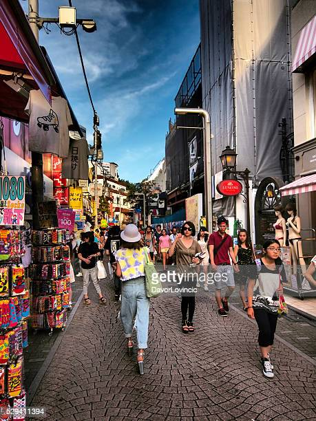 Harajuku Center Takeshite Straße in HDR, Tokio