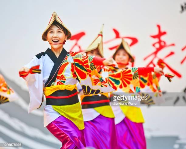 harajuku omotesando super yosakoi 2018 - dance troupe bildbanksfoton och bilder