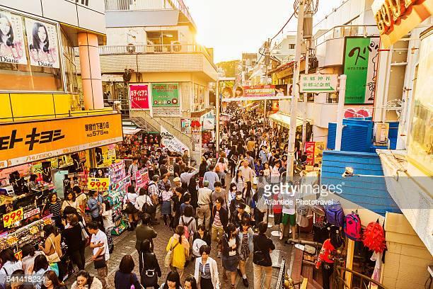 Harajuku, Takeshita-dori (street), the Tokyo's famous fashion subculture bazaar