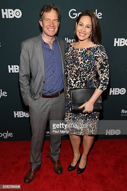 Harald Cordes and Nancy Cordes attend the Google/HBO celebration of All The Way during White House Correspondents' weekend at the Renwick Gallery on...