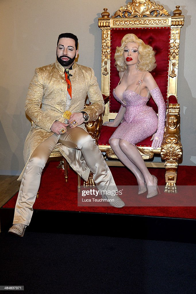 Harald Gloeoeckler and Amanda Lepore attend the Harald Gloeoeckler Store Opening on April 14, 2014 in Berlin, Germany.