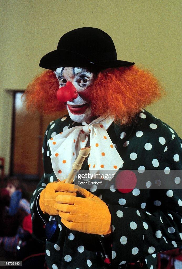 Harald Juhnke Als Clown Verkleidung Karneval Fasching Kostum