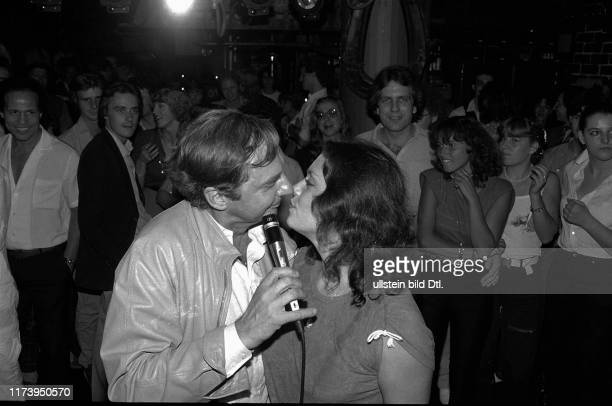 Harald Juhnke flirting with Monika Kaelin 1981