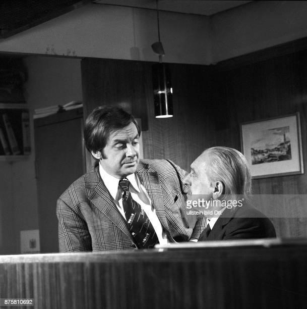 Harald Juhnke mit Walter Bluhm in der TVSerie Unter einem Dach