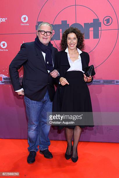 Harald Krassnitzer and Adele Neuhauser attend celebration event of 1000 Episodes of the crime movie 'Tatort' at Cinemaxx Dammtor on November 11 2016...