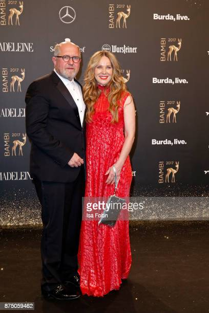 Harald Krassnitzer and AnnKathrin Kramer arrive at the Bambi Awards 2017 at Stage Theater on November 16 2017 in Berlin Germany